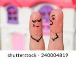 finger art of a  couple during...   Shutterstock . vector #240004819