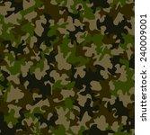 seamless camouflage pattern | Shutterstock . vector #240009001