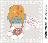 raster doodling design. happy... | Shutterstock . vector #240011317