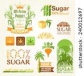 sugar labels  symbols  emblems... | Shutterstock .eps vector #240012697