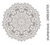 ethnic fractal mandala vector... | Shutterstock .eps vector #240014755
