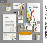 white stationery template... | Shutterstock .eps vector #240017491