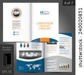classic white vector brochure... | Shutterstock .eps vector #240020851