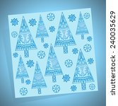 winter pattern with christmas... | Shutterstock .eps vector #240035629