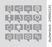 set of simple social icons | Shutterstock .eps vector #240062131