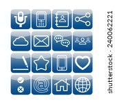 set of simple social icons | Shutterstock .eps vector #240062221