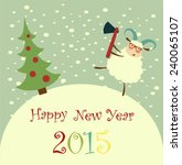 sheep is to cut a christmas... | Shutterstock .eps vector #240065107