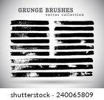 black ink vector brushes | Shutterstock .eps vector #240065809