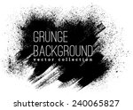 black ink vector stains | Shutterstock .eps vector #240065827