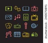 set of simple entertainment... | Shutterstock .eps vector #240070891