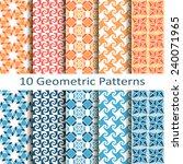 set of ten geometric patterns | Shutterstock .eps vector #240071965