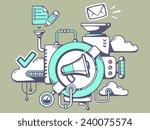 vector illustration of... | Shutterstock .eps vector #240075574