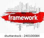 word cloud of framework related ... | Shutterstock .eps vector #240100084