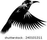 black and white hummingbird | Shutterstock .eps vector #240101311