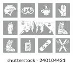 winter icons set | Shutterstock .eps vector #240104431
