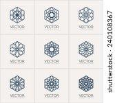 ornamental logo template set.... | Shutterstock .eps vector #240108367