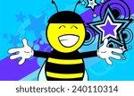 bee funny cartoon background in ... | Shutterstock .eps vector #240110314