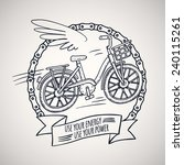 bicycle with wings  doodle... | Shutterstock .eps vector #240115261