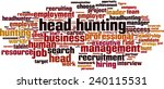 head hunting word cloud concept.... | Shutterstock .eps vector #240115531