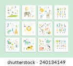 Cute Zoo Alphabet With Funny...