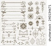 hand drawn assorted design... | Shutterstock .eps vector #240134671