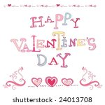 the valentine's day. vector. to ... | Shutterstock .eps vector #24013708