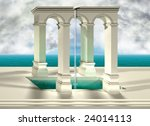 original optical illusion of an ... | Shutterstock . vector #24014113