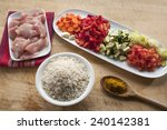 raw ingredients ready to...   Shutterstock . vector #240142381