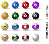 pool   billiard balls | Shutterstock .eps vector #24014452