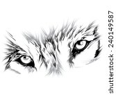 wolf's face | Shutterstock .eps vector #240149587