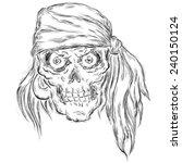 pirate  sketch vector... | Shutterstock .eps vector #240150124