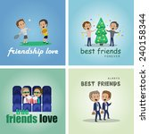 friends and friendship  social... | Shutterstock .eps vector #240158344