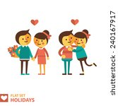 set of vector images of couples ... | Shutterstock .eps vector #240167917