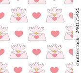 dove with love messages vector... | Shutterstock .eps vector #240175435