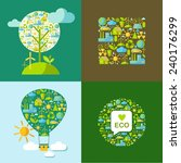 set of ecology symbols with... | Shutterstock .eps vector #240176299