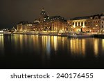 stockholm embankment with boats | Shutterstock . vector #240176455