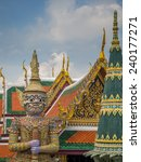 wat phra kaeo. bangkok ... | Shutterstock . vector #240177271