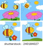 cartoon bee character. vector... | Shutterstock .eps vector #240184027