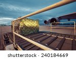 loading of cargo to the freight ...   Shutterstock . vector #240184669