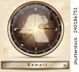 map of kuwait with borders in... | Shutterstock .eps vector #240186751