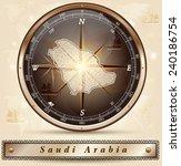 map of saudi arabia with... | Shutterstock .eps vector #240186754