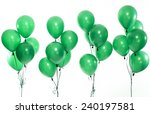 Green Party Balloons On The...