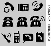phone icons set.vector | Shutterstock .eps vector #240198979
