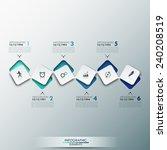 modern infographics process...   Shutterstock .eps vector #240208519