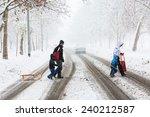 zagreb  croatia   december 28 ... | Shutterstock . vector #240212587