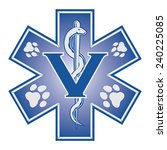 veterinarian emergency medical... | Shutterstock .eps vector #240225085