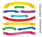set of colored ribbon banners.... | Shutterstock .eps vector #240232321