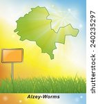 Map of Alzey