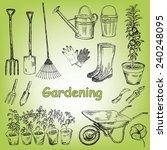 garden set | Shutterstock .eps vector #240248095