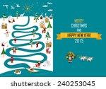 cute eskimos characters... | Shutterstock .eps vector #240253045